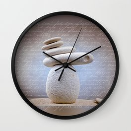 Balance Stone, Affirmations in the back Wall Clock