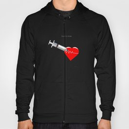 Shot to the heart - Pulp fiction Overdose Needle Scene needle for injection  Hoody