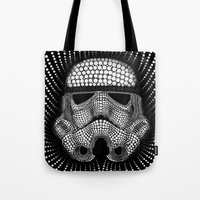 trooper Tote Bags featuring Trooper Star Circle Wars by Msimioni