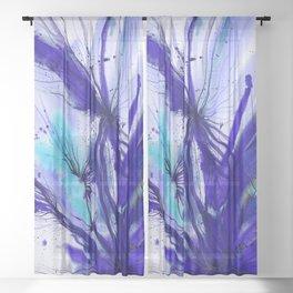 Organic Ecstasy No. 48e by Kathy Morton Stanion Sheer Curtain