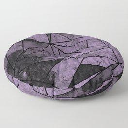Lilac Purple and Black Geometric Pattern Floor Pillow