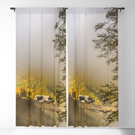 Mountains in the mist Blackout Curtain