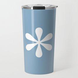 asterisk sign on placid blue color background Travel Mug