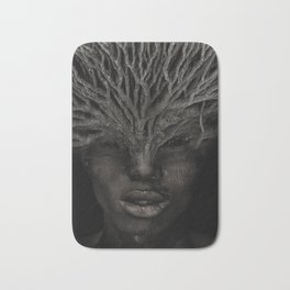 Tree man. Double exposure portrait by T.Amrein Bath Mat