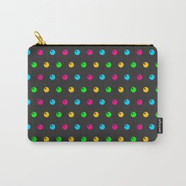 Phillip Gallant Media Design - Various Colored Cirlce Shapes on Black Carry-All Pouch
