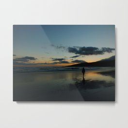Sunset Strolling Metal Print