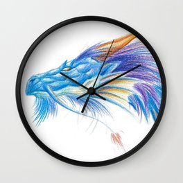 Blue Blaze Dragon Wall Clock