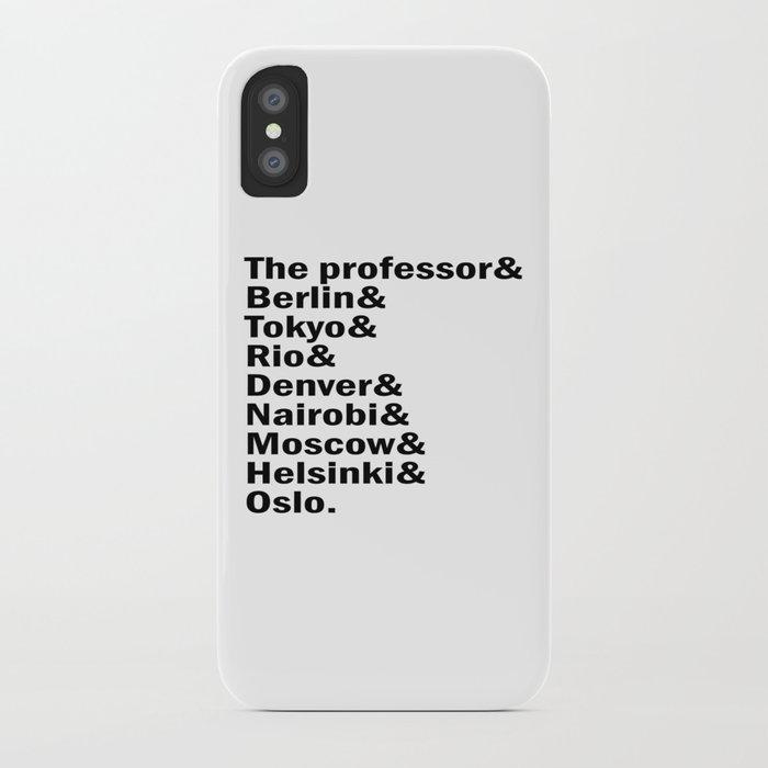 Money Heist / La casa de papel squad  (version 2, in white) iPhone Case by  dangerlineclothing