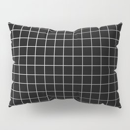 Metal Cage - Industrial, metallic grid pattern Pillow Sham