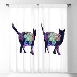 Cat in succulents 2 Blackout Curtain