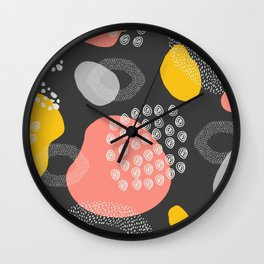 Hipster Home Decor, Pattern  Print,  Illustration Art Print, Printable Art Wall Clock
