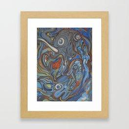 Elephant VS Giraffe (resized) Framed Art Print