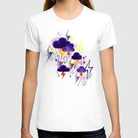 lightning T-shirts featuring Lightning Storm by Andrea Stark