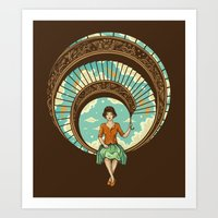 nouveau Art Prints featuring Welcome to My World by Enkel Dika