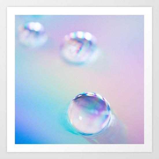 droplets*blue Art Print