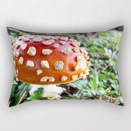 Baby Fly Agaric Mushroom by Seasons Kaz Sparks Rectangular Pillow