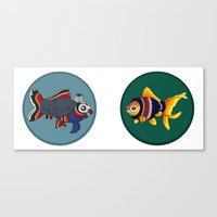johnlock Canvas Prints featuring Johnlock goldfish by WhoGroovesOn