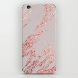 Porcelain grey rose gold iPhone Skin
