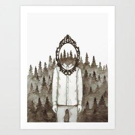 Forest Mirror Art Print