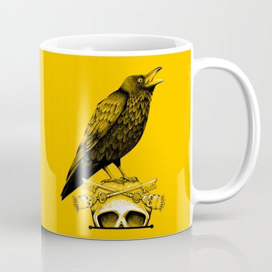 Black Crow, Skull and Cross Keys Coffee Mug