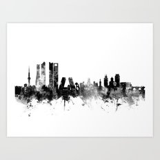 Madrid Spain Skyline Art Print