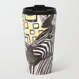 Zebra Prints Metal Travel Mug
