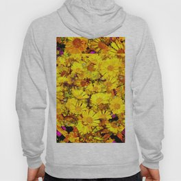Rich Golden Yellow  Coreopsis Flowers Modern Art Hoody