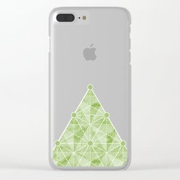 Geodesic Palm_Green Clear iPhone Case