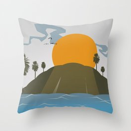 Tropic storm is coming Throw Pillow