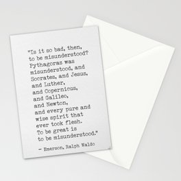 Emerson quote 9 Stationery Cards