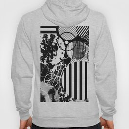 Black And White Choas - Mutli Patterned Multi Textured Abstract Hoody
