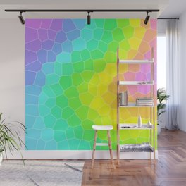 Wild Rainbow Design with Stained Glass Effect Wall Mural