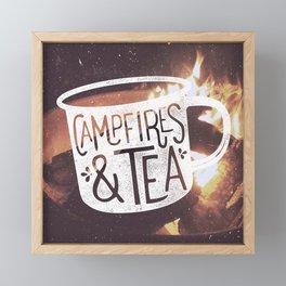 Campfires & Tea Framed Mini Art Print