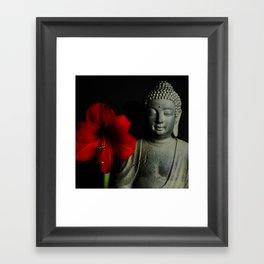 Amaryllis Buddha 2 Framed Art Print