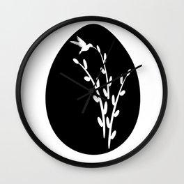 Graceful Hummingbird Wall Clock