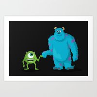 monsters inc Art Prints featuring MONSTERS INC by ketizoloto