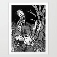 BOY WHO WHISTLES IN HIS SLEEP Art Print