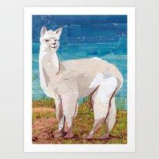 Alpaca Art Print