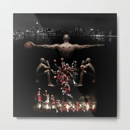 The New Mj collage Metal Print