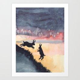 Sunset Leap Art Print