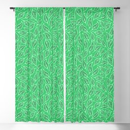 V.25 - Striated Leaves - Green Nature Blackout Curtain