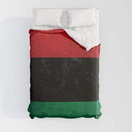Distressed Afro-American / Pan-African / UNIA flag Duvet Cover