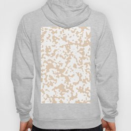 Spots - White and Pastel Brown Hoody