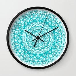 Iris Blue Mandala - Radiance Wall Clock