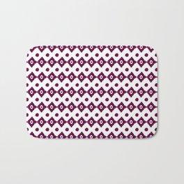 Abstract geometrical burgundy pink watercolor tribal pattern Bath Mat