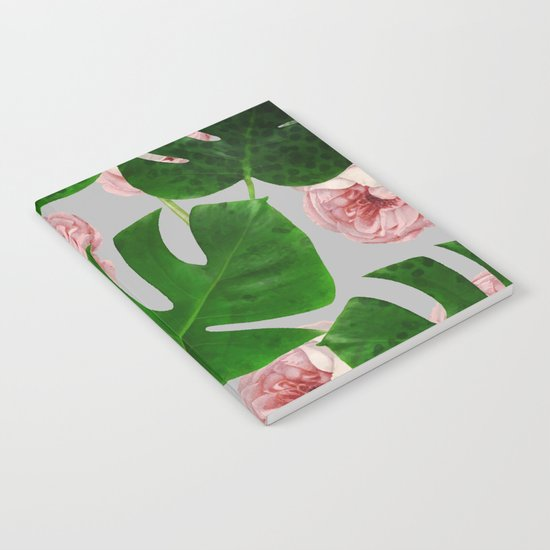 Monstera & Rose Pattern #society6 #decor #buyart Notebook