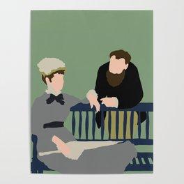 Flat Graphic: Manet- Dans la Serre Poster