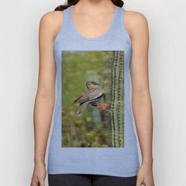 Perching On A Saguaro Cactus Unisex Tank Top