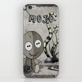 MOJO Gothic Voodoo Doll Folk Art iPhone Skin