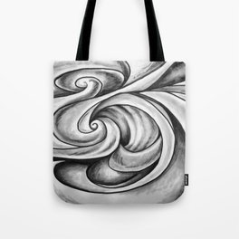 Swirl (Gray) Tote Bag